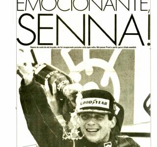 Jornal da Tarde: Ayrton Senna campeão em 1988