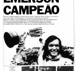 Jornal da Tarde: Émerson Fittipaldi campeão da Fórmula 1