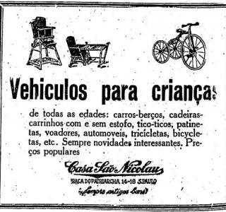 Veículos para crianças