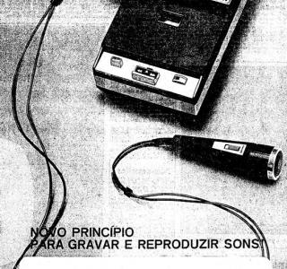 Chegou o gravador K7