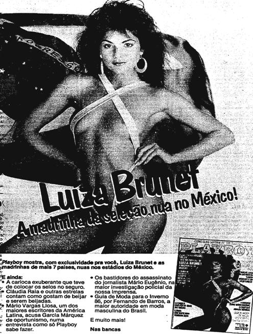 1986.5.14 playboy luiza brunet madrinha da seleção na copa do méxivo2