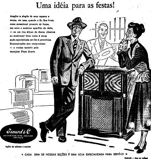 Rádio com toca-discos em 1948
