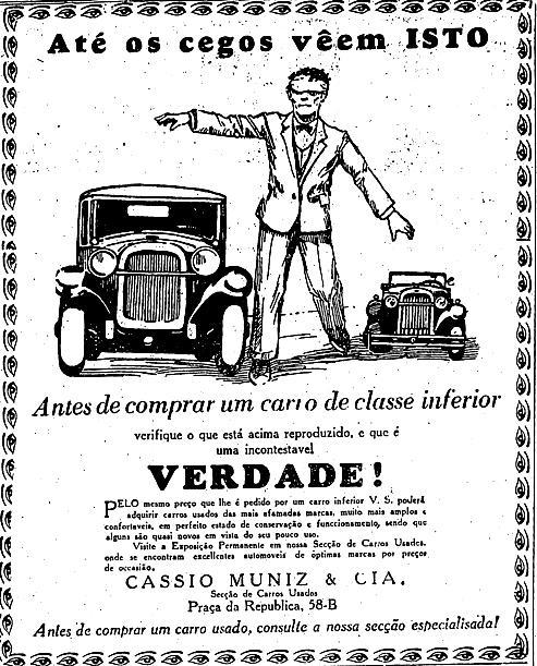 Anúncio publicado no Estadão em 1928