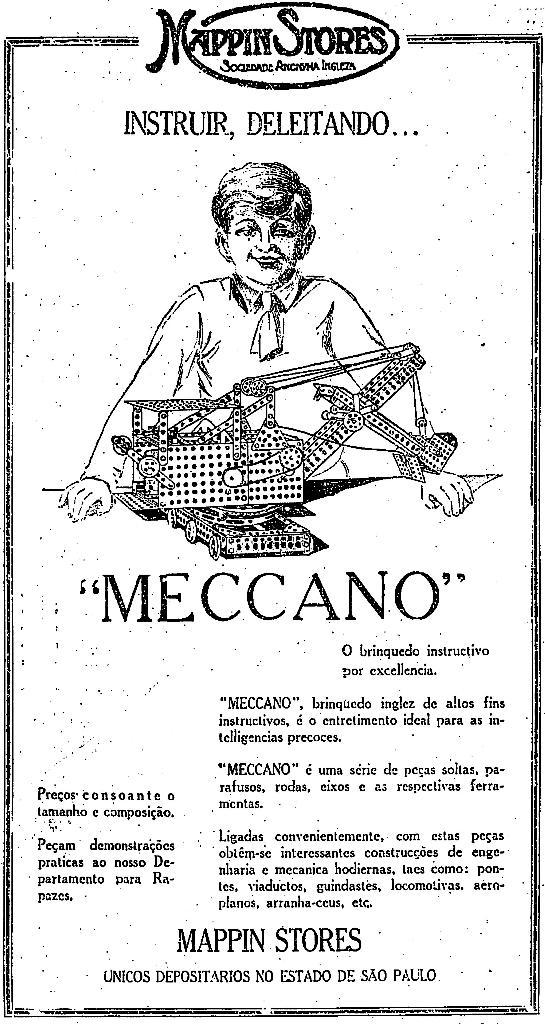 Brinquedo educativo e montar anunciado em 1928