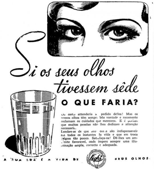 Anúncio da Light em 1939