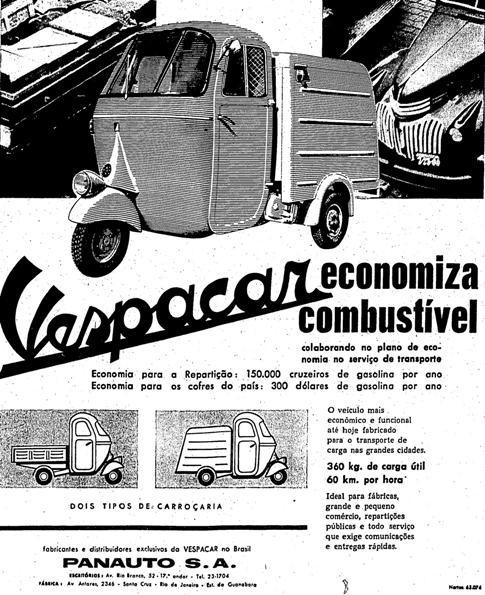 Vespacar, em 1961