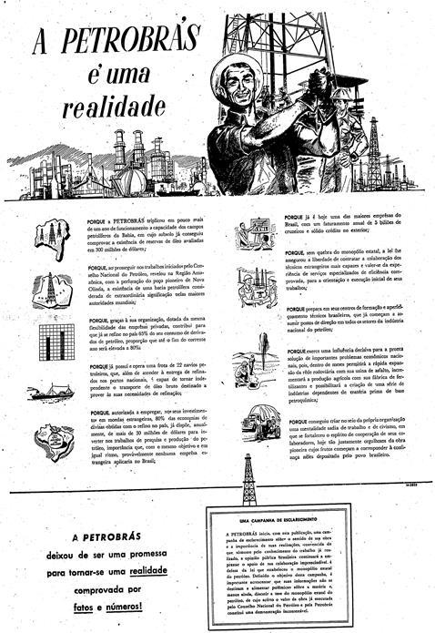 Anúncio da Petrobrás no Estadão de 1955