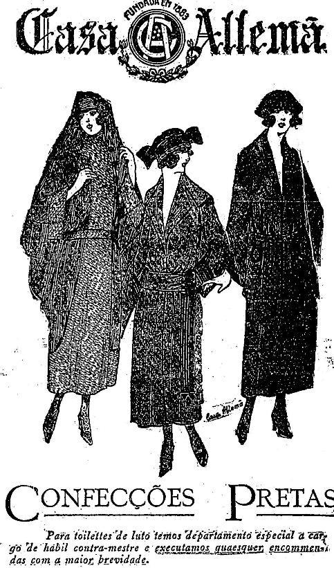 Roupas pretas em 1924