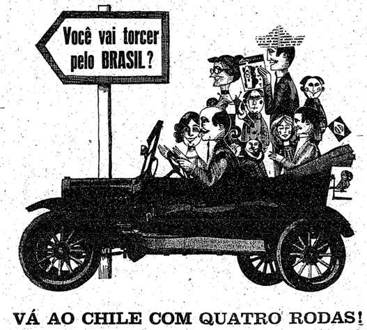 Anúncio da Revista Quatro Rodas em 1962