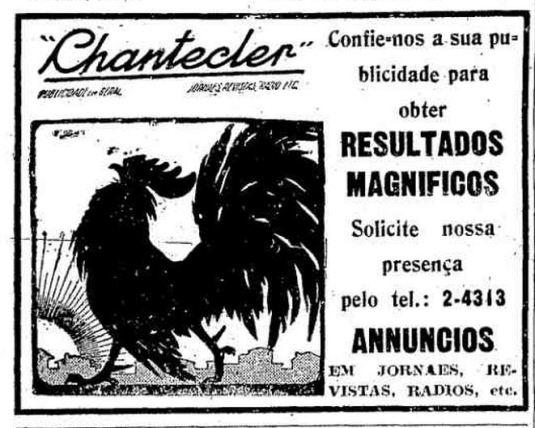 Anúncio de agência de publicidade em 1936