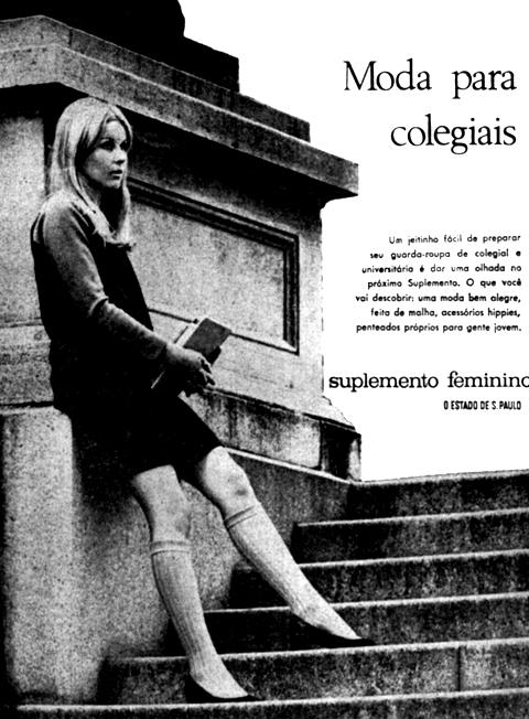 Anúncio do Suplemento Feminino na capa do Estadão em 6 de fevereiro de 1968