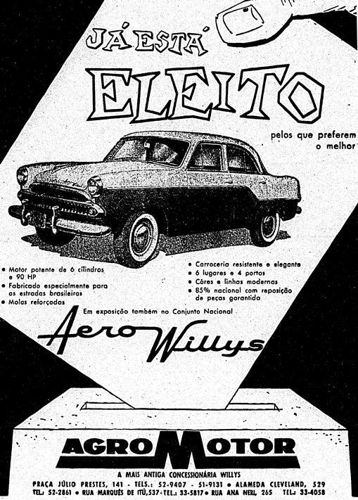 O carro eleito: agosto de 1960