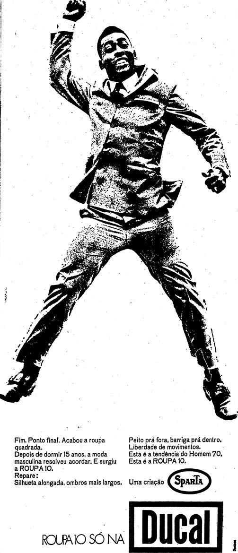 Pelé com terno Ducal em 1970