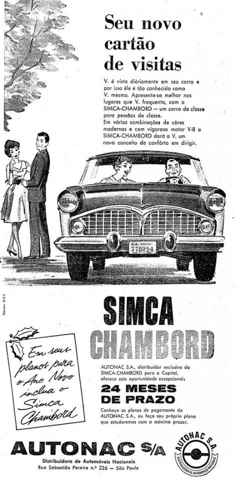 Simca Chambord em 1959