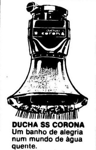 Duchas corona, em 1979