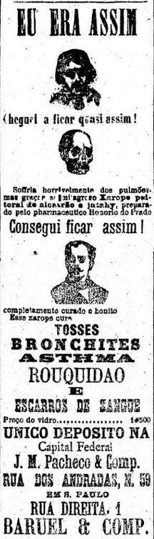 Xarope anunciado no Estadão em 1895