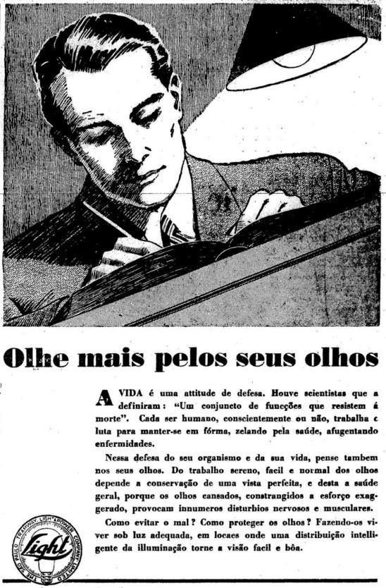 Anúncio da Light em 1935